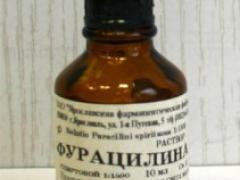 Розчин фурациліну спиртовий та його застосування